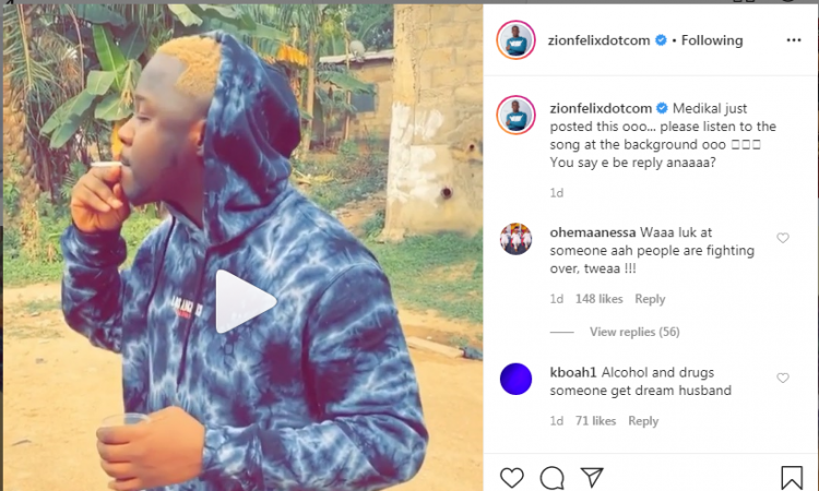 Medikal's Marriage Under Heavy Criticism As He's Busted Boozing & Smoking During His Birthday